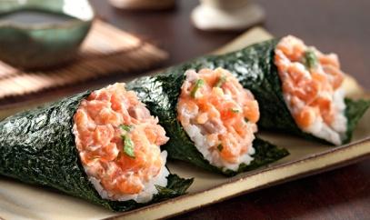 Temaki-de-salmão